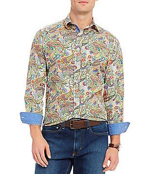 Cremieux Jeans Paisley Print Long-Sleeve Woven Shirt