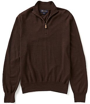 Brooks Brothers Saxon Half-Zip Wool Sweater