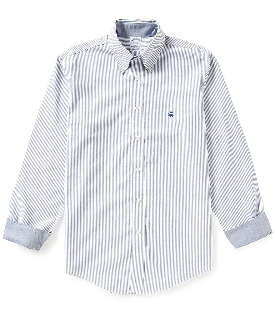 Brooks Brothers Oxford Stripe Long-Sleeve Woven Shirt