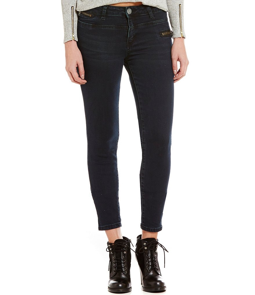 STS Blue Zipper Detailed Skinny Ankle Jeans