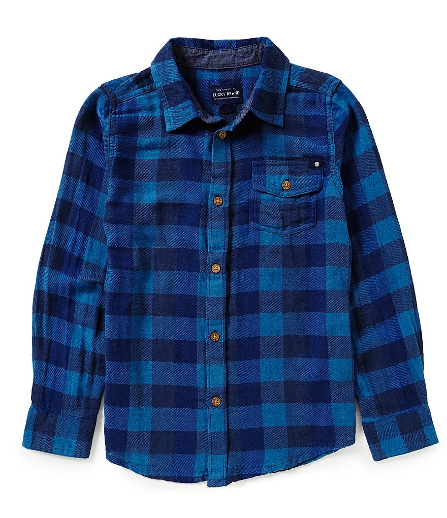 Lucky Brand Big Boys 8-20 Checked Woven Shirt