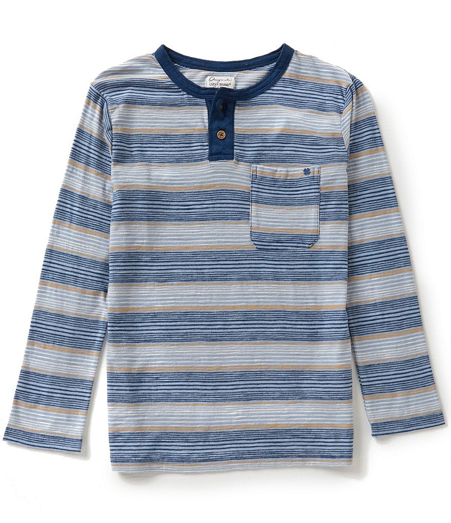 Lucky Brand Big Boys 8-20 Ocean Sun Henley Top