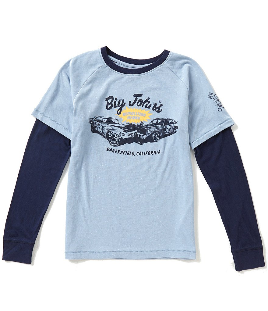 Lucky Brand Big Boys 8-20 Big Johns Long-Sleeve Tee