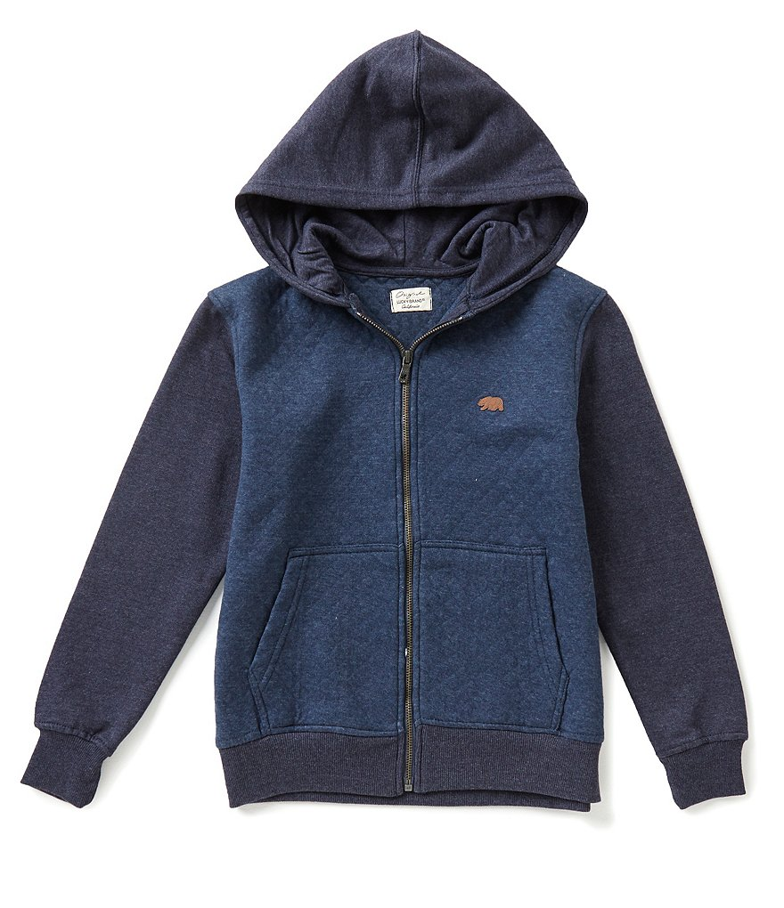 Lucky Brand Big Boys 8-20 Glacier Color Block Jacquard-Quilted-Front Hoodie