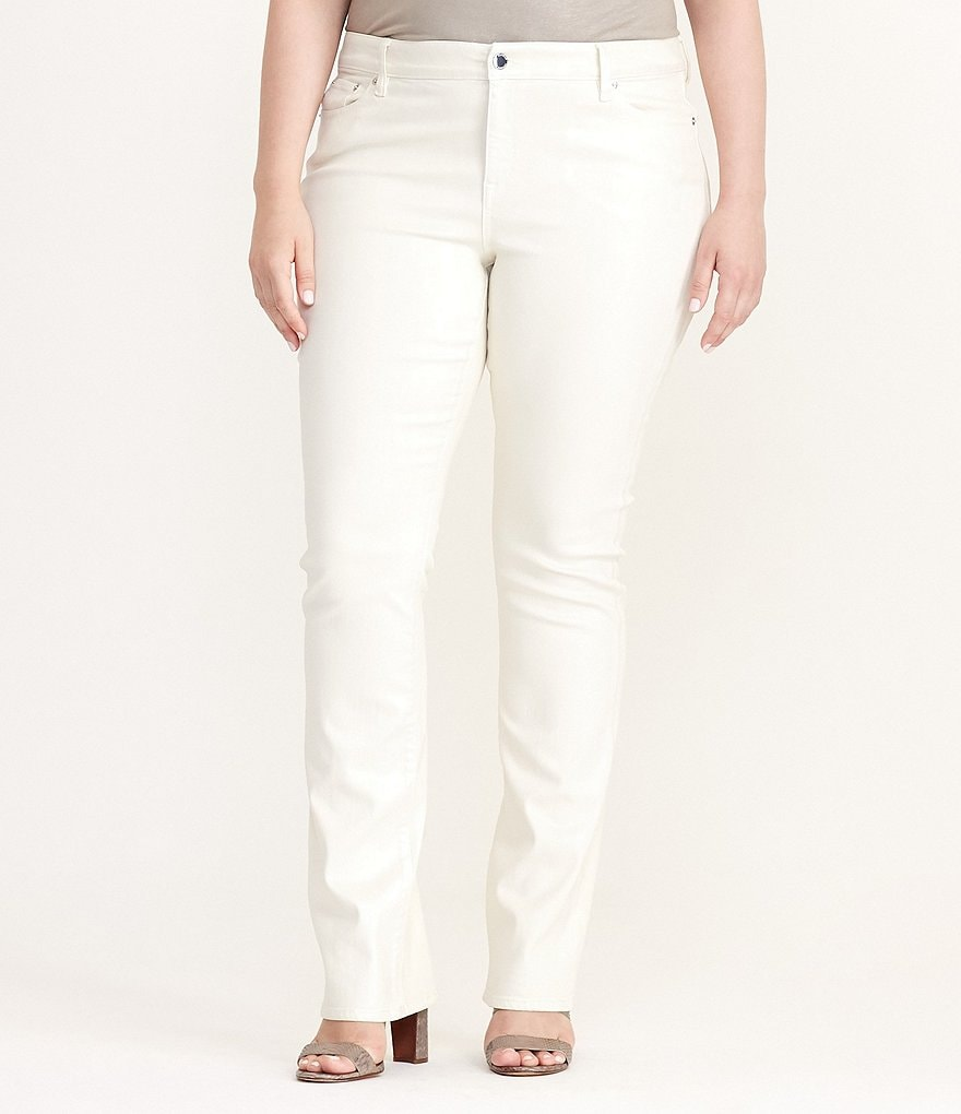 Lauren Ralph Lauren Plus Coated Straight Leg Jean