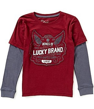Lucky Brand Big Boys 8-20 Wings Graphic Color Block Slider Tee
