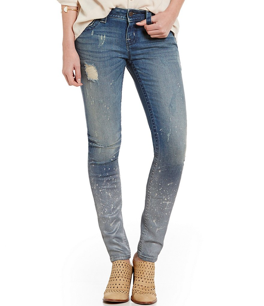 Miss Me Splashout Distressed Skinny Jeans
