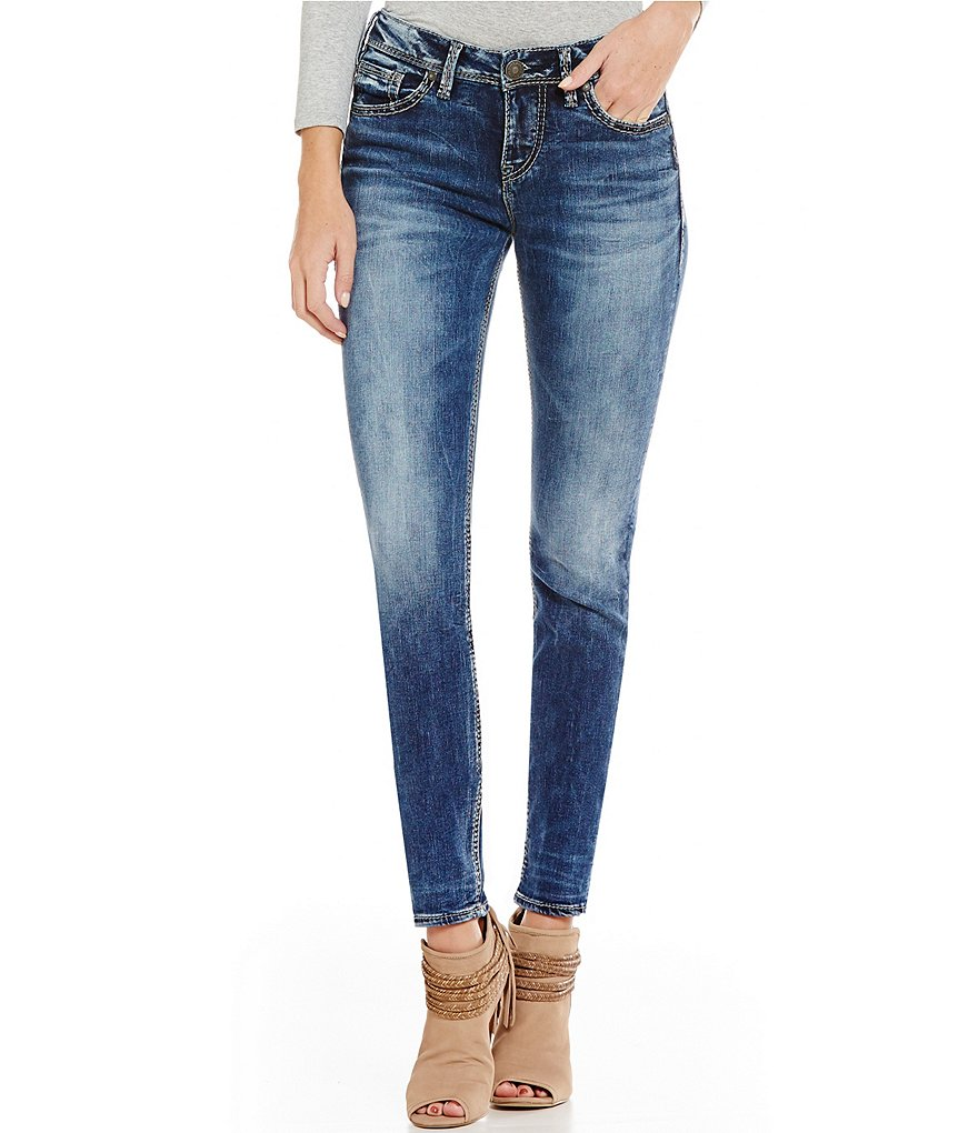 Silver Jeans Co. Suki High Waist Faded Super Skinny Jeans