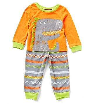 Komar Kids Little Boys 2T-4T Dinosaur Pajama Top & Printed Pajama Pant Set