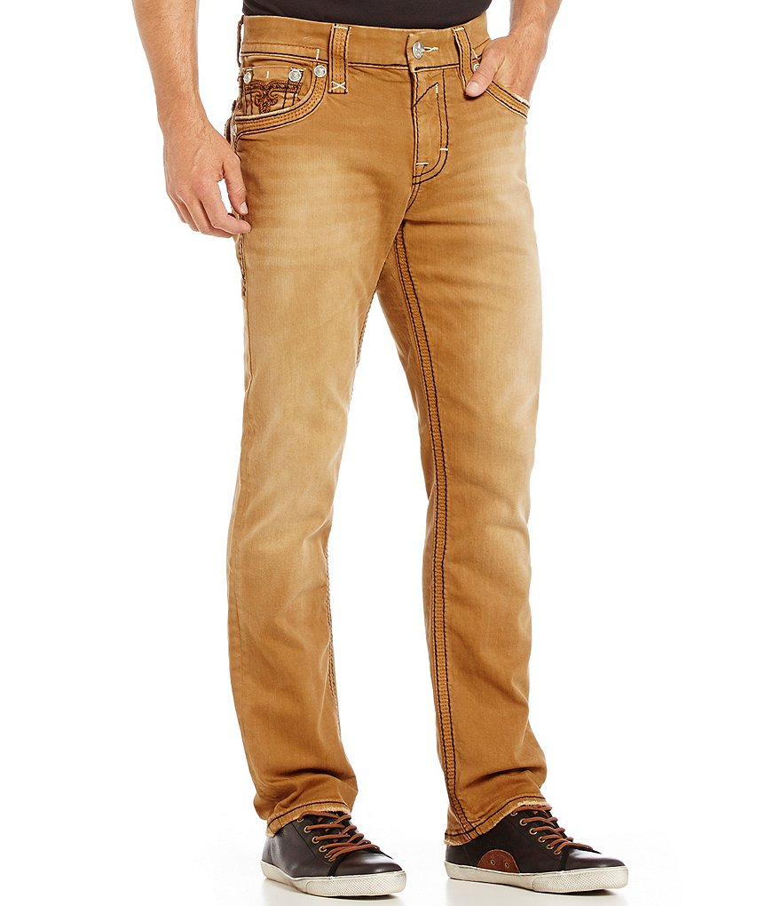 Rock Revival Norton Straight-Fitting Denim Jeans