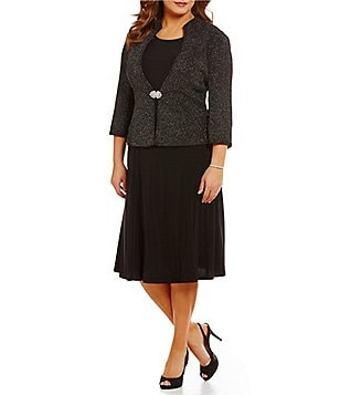 Jessica Howard Plus 2-Piece Jacket Dress
