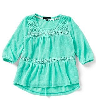 Takara Little Girls 4-6X Lace Two-Tiered Top