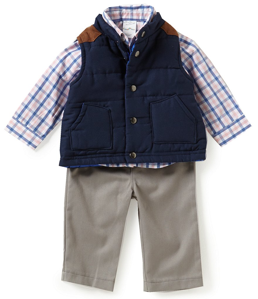 Starting Out Baby Boys 3-24 Months 3-Piece Puffer Vest Set
