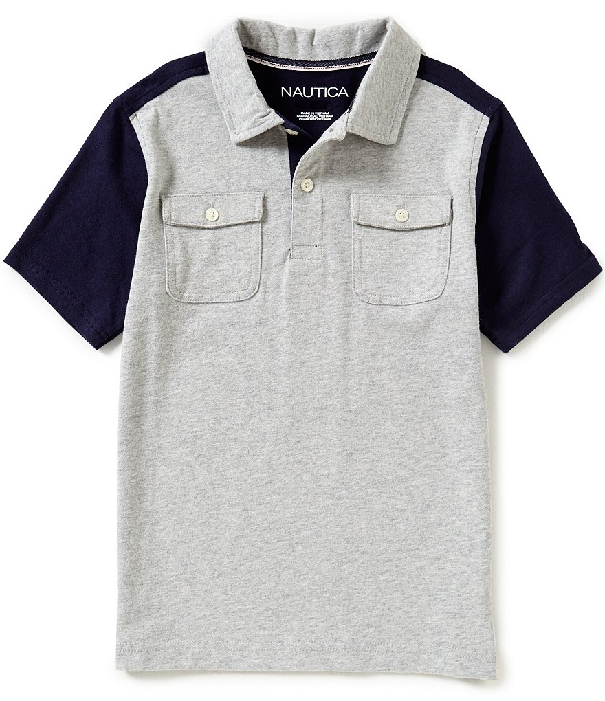 Nautica Big Boys 8-20 Color Block Polo Shirt