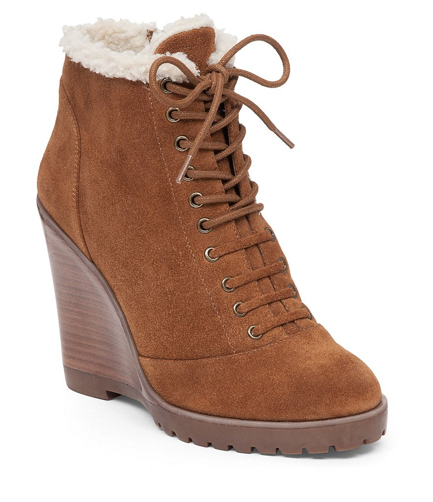 Jessica Simpson Kaelo Lace Up Wedge Bootie