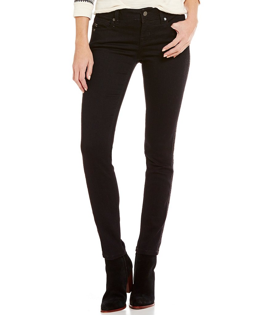 Miss Me Eyelet Piping Mid-Rise Skinny Jeans