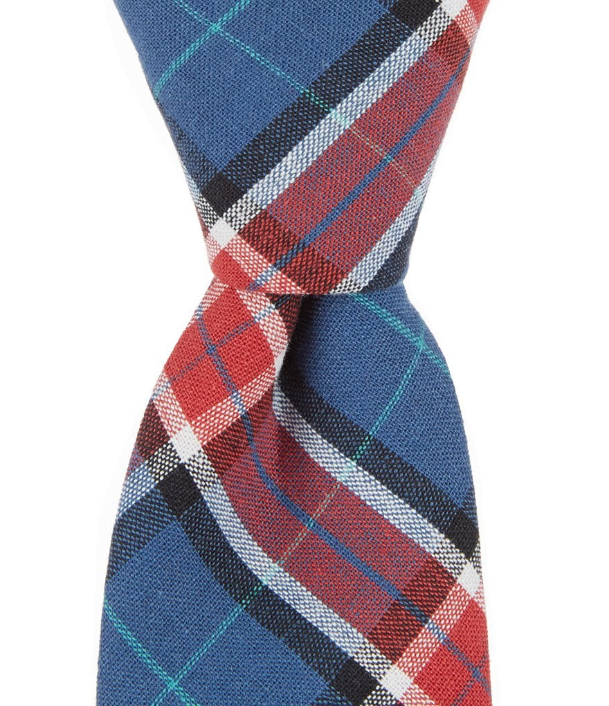 Original Penguin Jory Plaid Skinny Cotton Tie