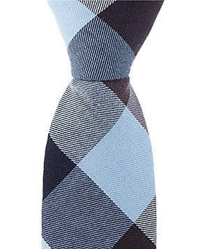 Original Penguin Corman Plaid Skinny Cotton Tie
