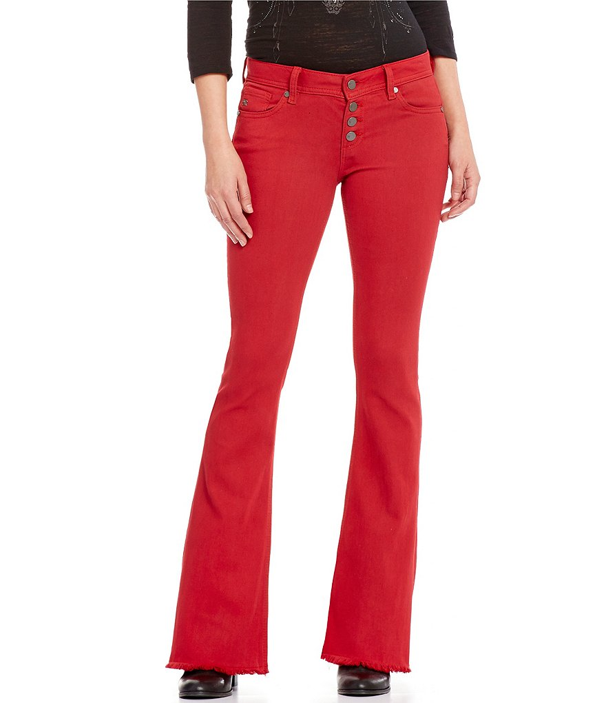 Miss Me Button-Fly Mid-Rise Flare Jeans