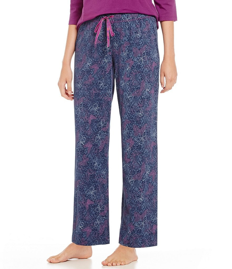 Karen Neuburger Urban Safari Butterfly-Print Pajama Pants