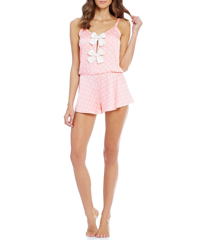 kate spade new york Charmeuse Bow Romper