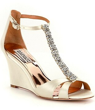 Badgley Mischka Romance Wedge Dress Sandals