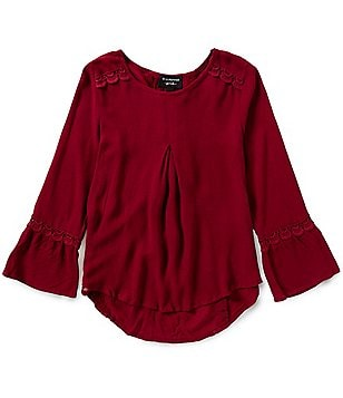 Blu Pepper Big Girls 7-16 Tie-Back Tunic