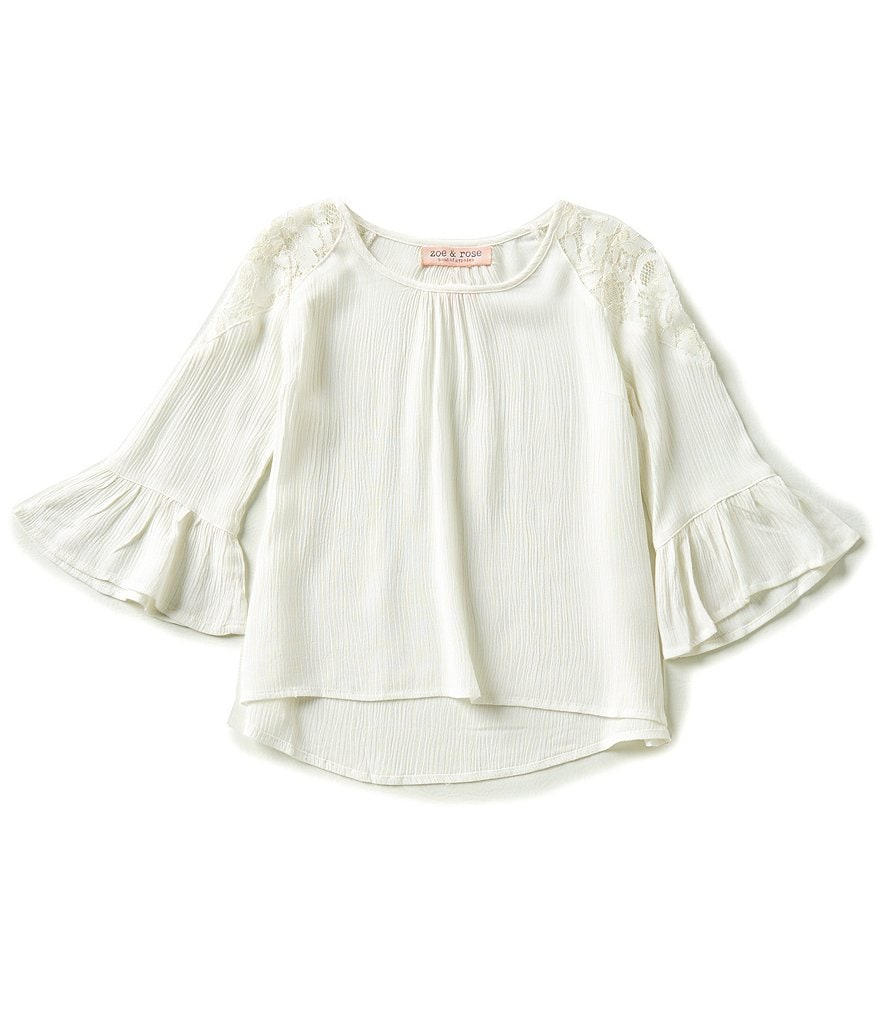 Zoe & Rose by Band of Gypsies Big Girls 7-16 Ruffled Bell-Sleeve Top