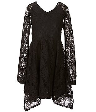 Zoe & Rose by Band of Gypsies Big Girls 7-16 Asymmetrical Lace Dress