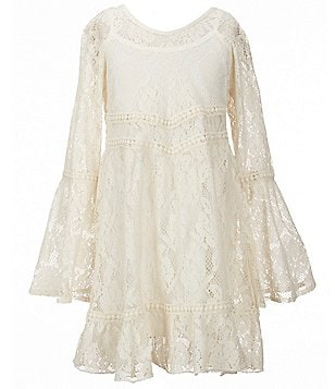 Zoe & Rose by Band of Gypsies Big Girls 7-16 Bell-Sleeve Lace Dress
