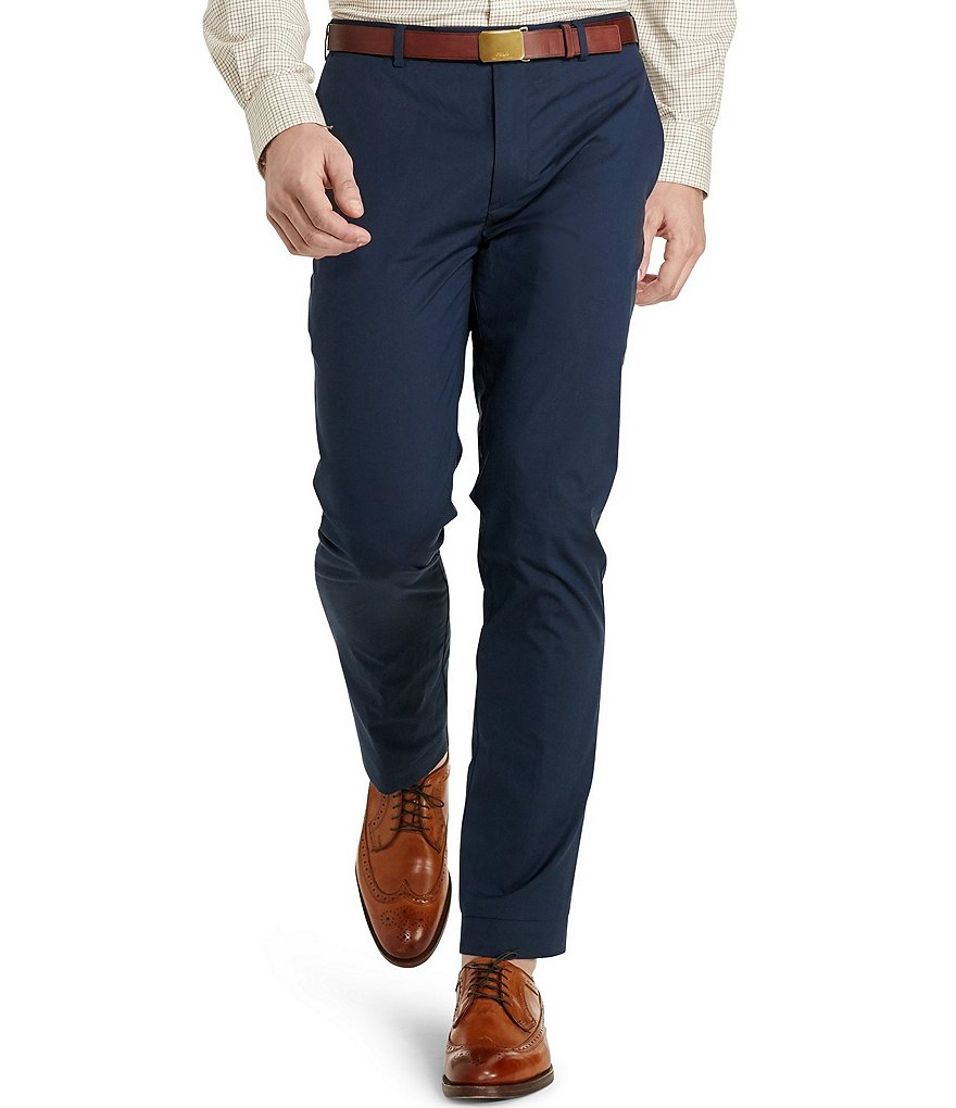 Polo Ralph Lauren Hudson Straight Fit Flat-Front Pants