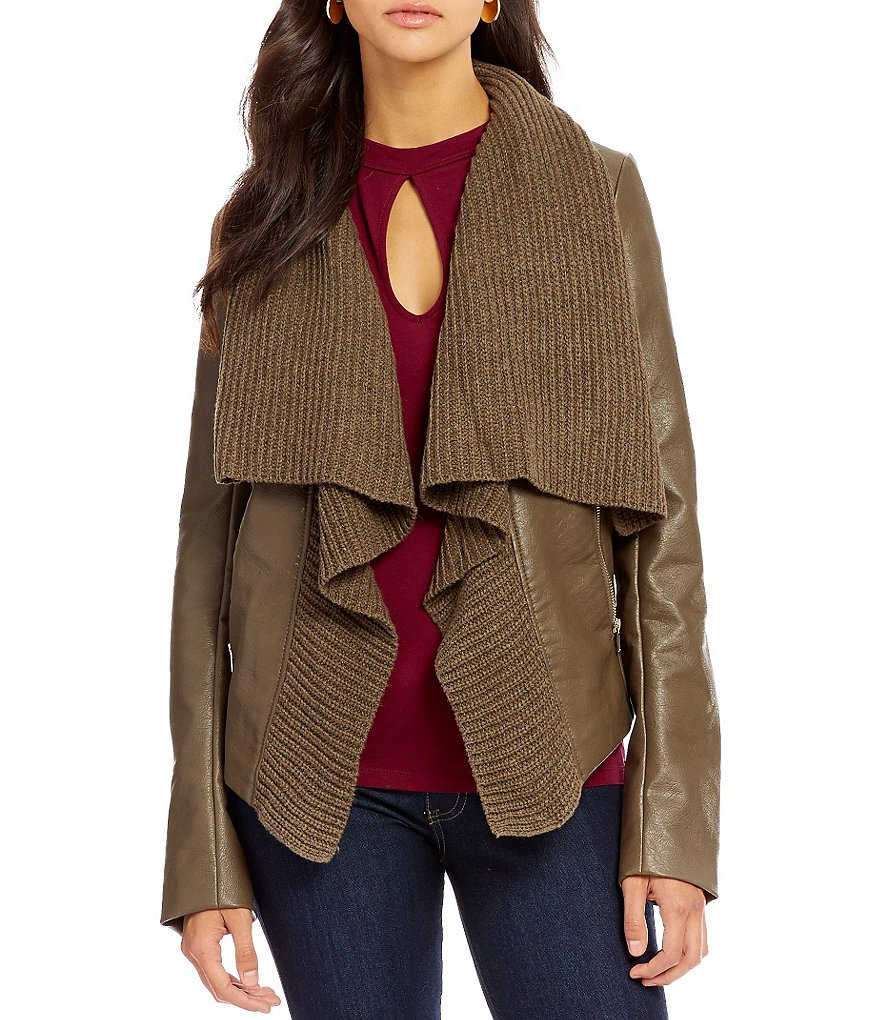 Guess Aileen Long-Sleeve Textured Open-Front Sweater Jacket