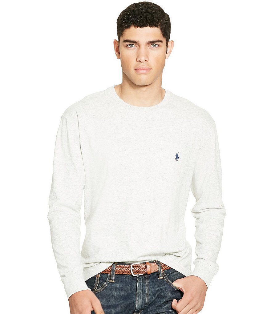 Polo Ralph Lauren Pocket Crewneck Classic-Fit Long-Sleeve Tee
