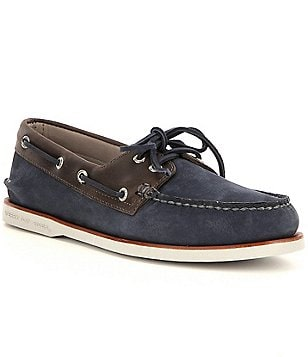 Sperry Men´s Gold Authentic Original 2-Eye Leather Slip-On Camino Boat Shoes