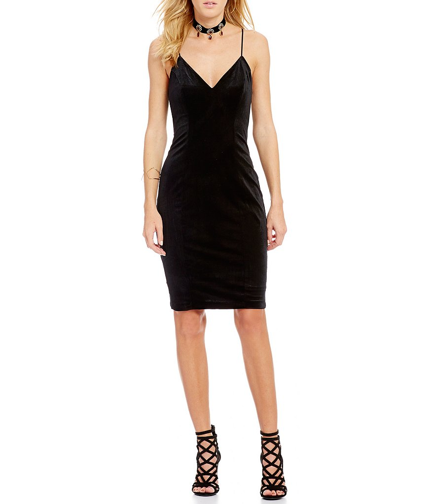 Guess Eriko Velvet Sheath Slip Dress