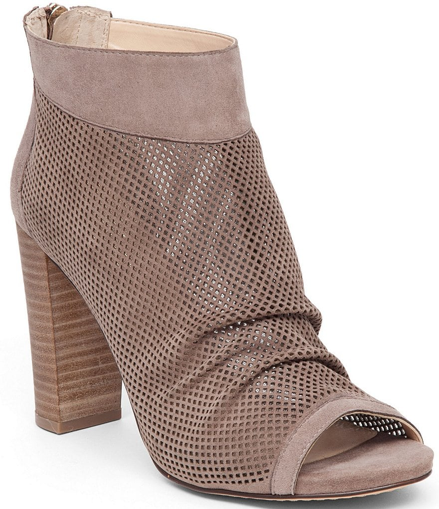 Vince Camuto Cosima Perforated Peep Toe Booties