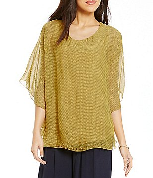 M Made In Italy Cape Tunic