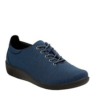 Clarks Sillian Tino Lace-Up Heathered Textile Sneakers