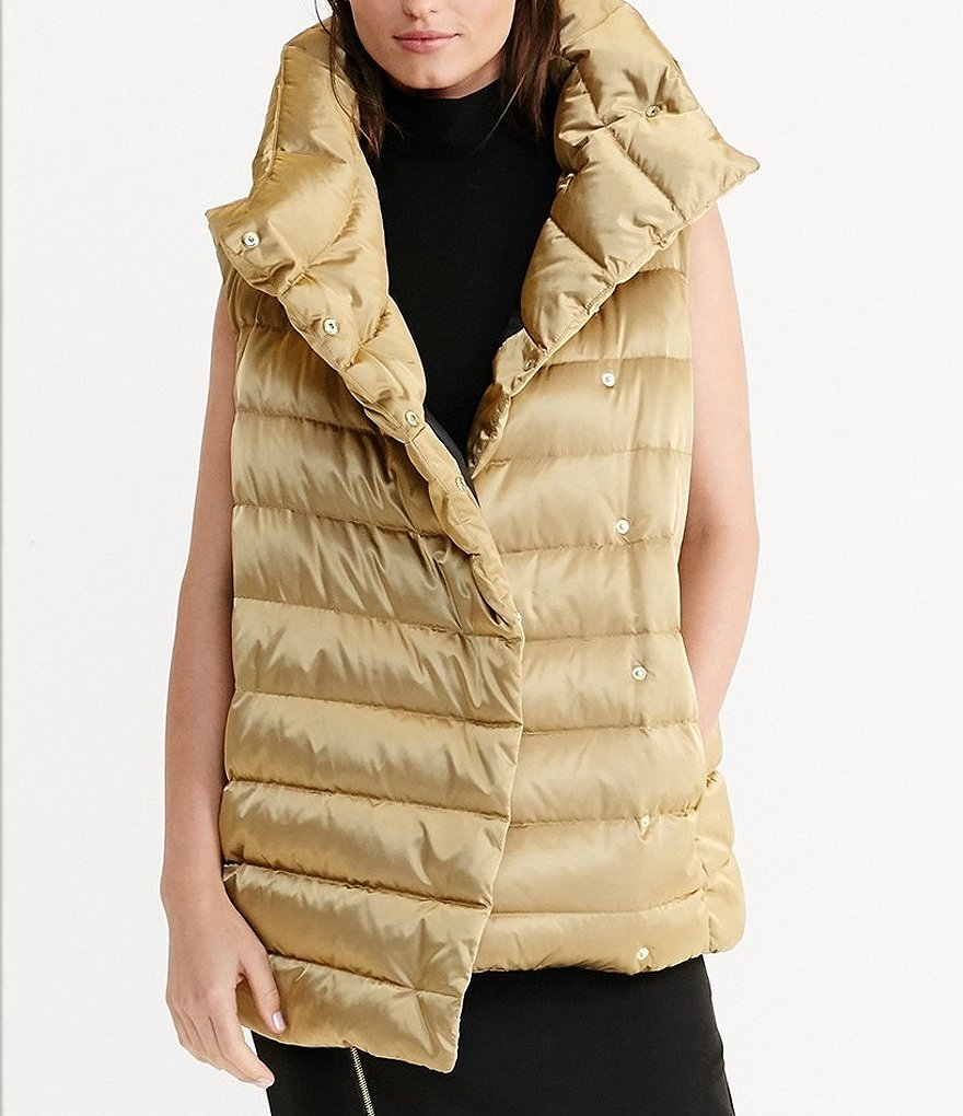 Lauren Ralph Lauren Funnel Neck Quilted Down-Filled Vest