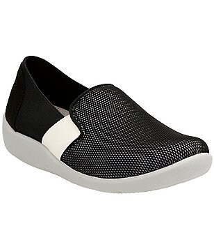 Clarks Sillian Oak Mesh Fabric Slip-On Sneakers