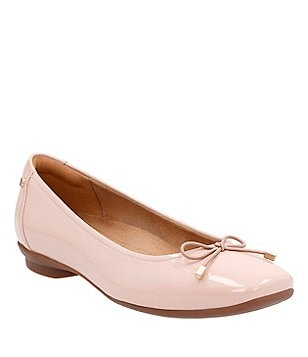 Clarks Candra Light Patent Leather Bow Detail Slip-On Ballet Flats