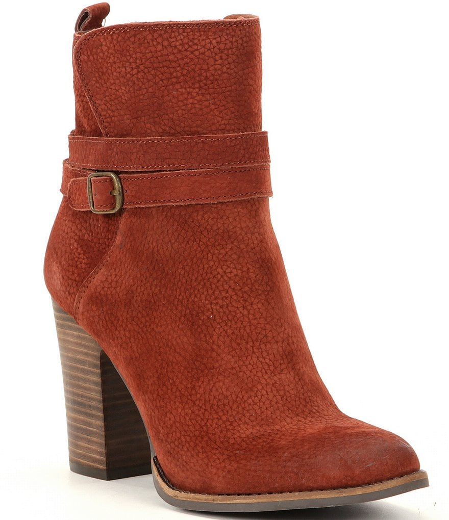 Lucky Brand Latonya Buckled Leather Booties