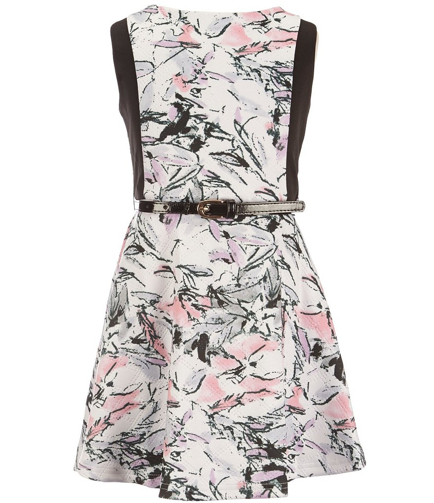 Pippa & Julie Big Girls 7-14 Floral Skater Dress
