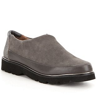Donald J Pliner Carly Stretch Suede Casual Slip Ons