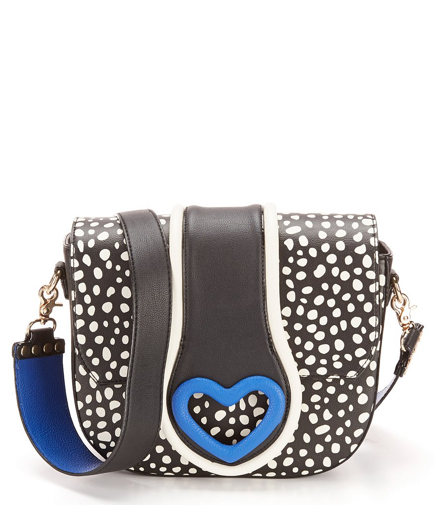 Betsey Johnson Loop-di-Loop Dotted Saddle Bag