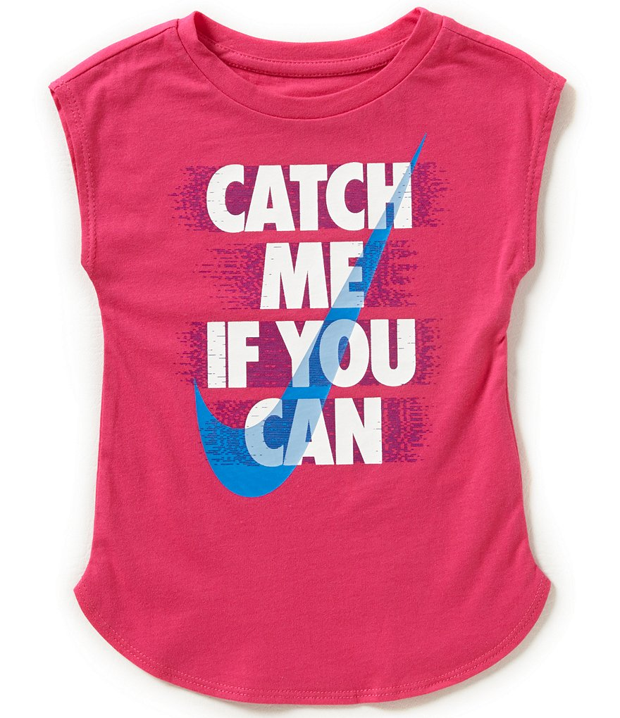 Nike Little Girls 2T-6X Catch Me If You Can Graphic Tee