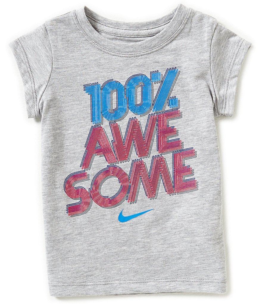 Nike Little Girls 2T-6X Awesome Graphic Tee