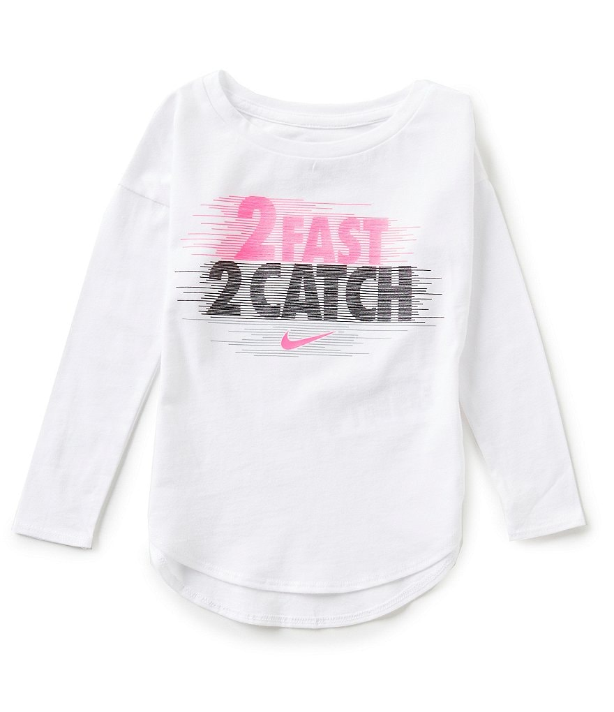 Nike Little Girls 2T-6X 2 Fast 2 Catch Tee