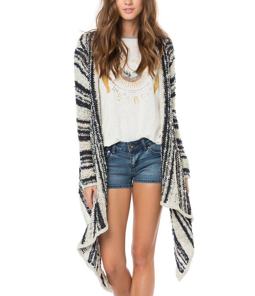 O´Neill Riku Striped Open Drape Cardigan