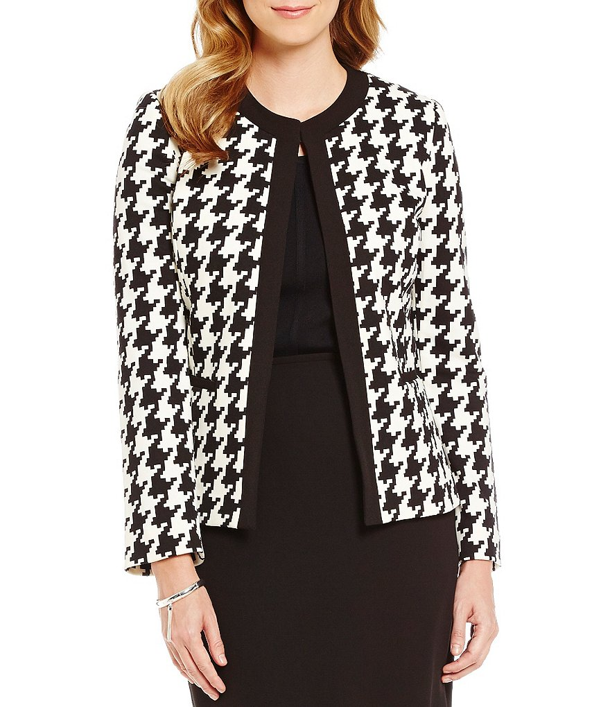 Preston & York Madison Round Neck Ponte Jacket